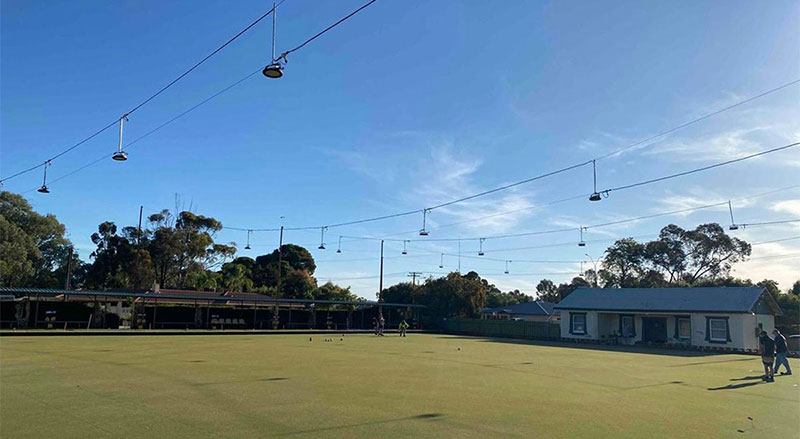 Laura Bowling Club LED Lighting post upgrade 123jpg