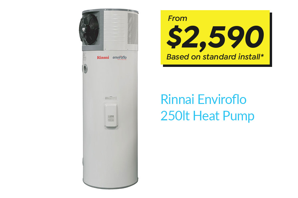 Rinnai Enviroflo 250lt Heat Pump